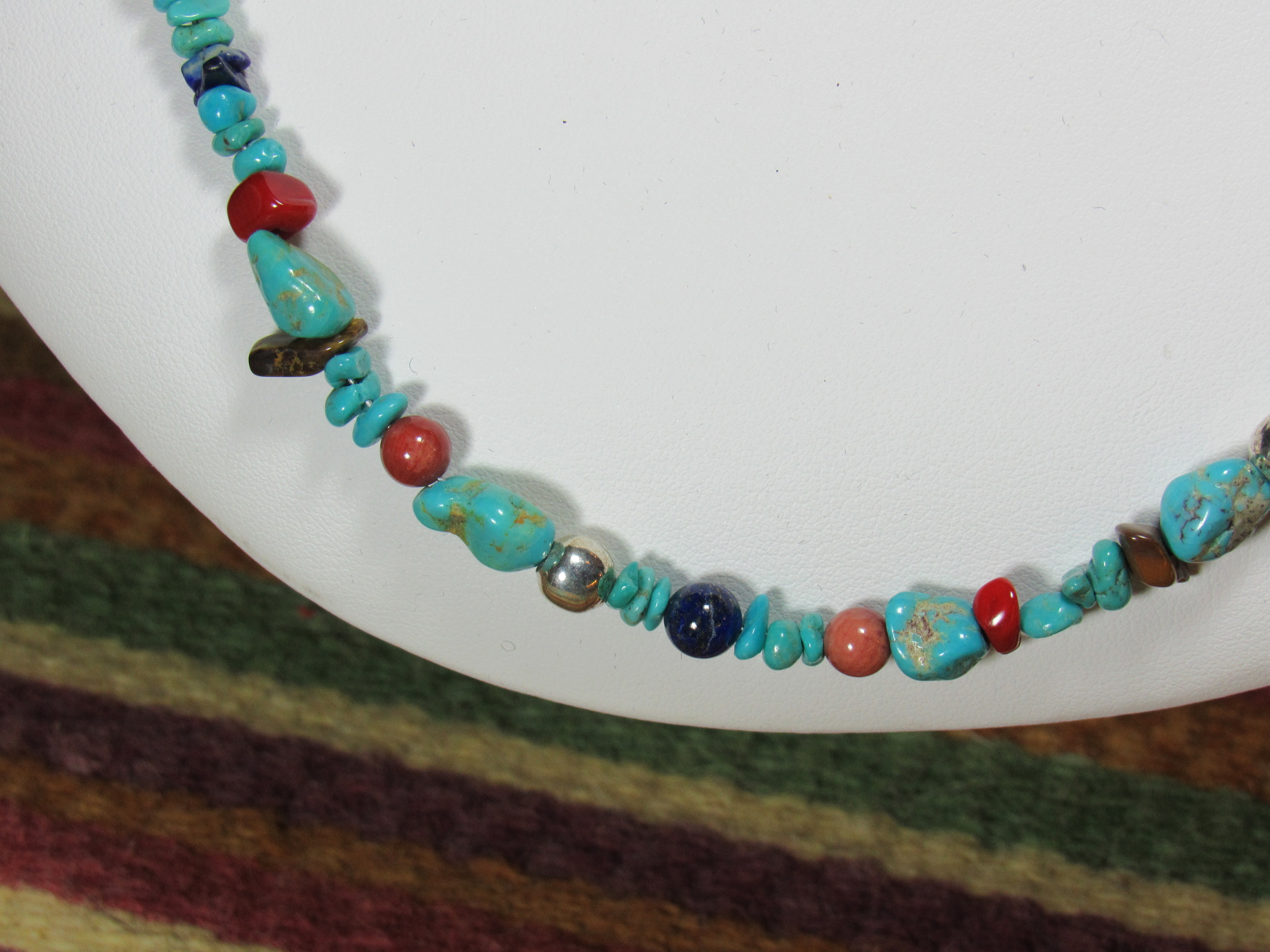 authentic southwest navajo beaded necklace